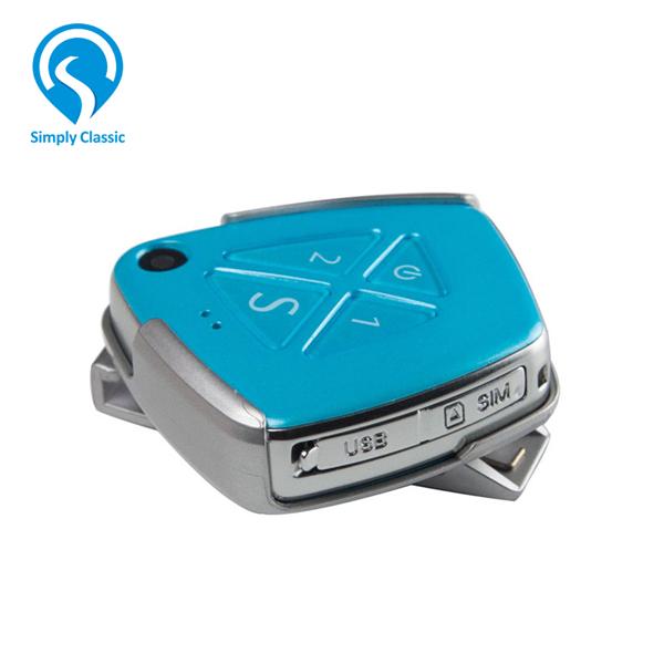 V42 Fall Alarm Hidden Mini 3G Personal GPS Tracker With Camera